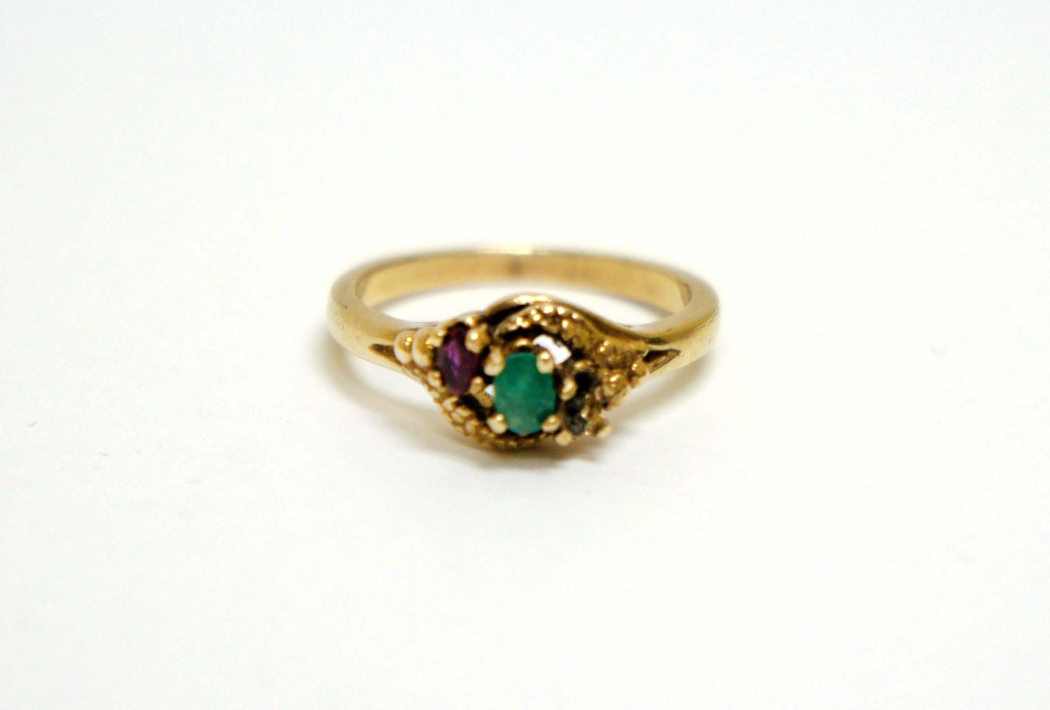 Vintage Gold And Emerald Ring